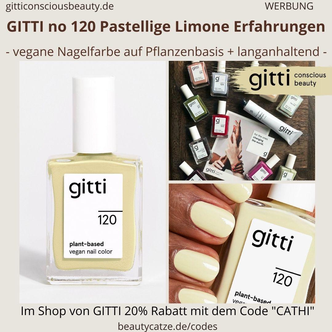 PASTELLIGE LIMONE GITTI Nagellack No 120 gelb hell ERFAHRUNG Nagelfarbe plant-based