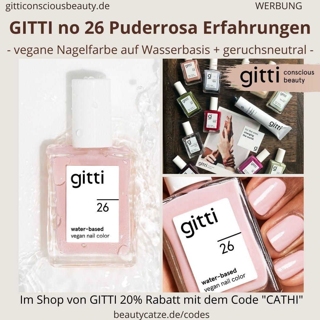 PUDERROSA GITTI Nagellack No 26 hell rosa ERFAHRUNG Nagelfarbe water-based