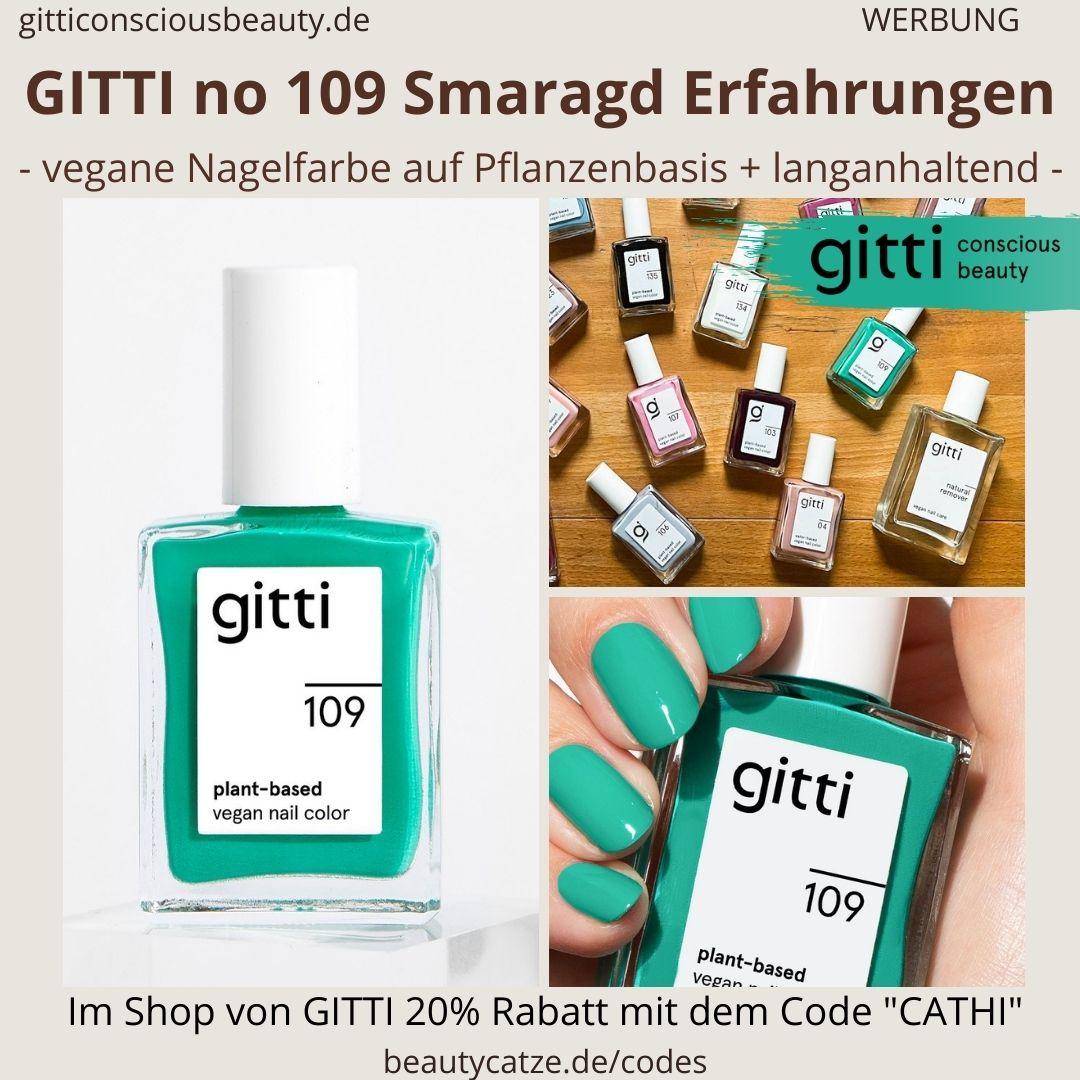 SMARAGD GITTI Nagellack No 109 grün blau ERFAHRUNG Nagelfarbe plant-based