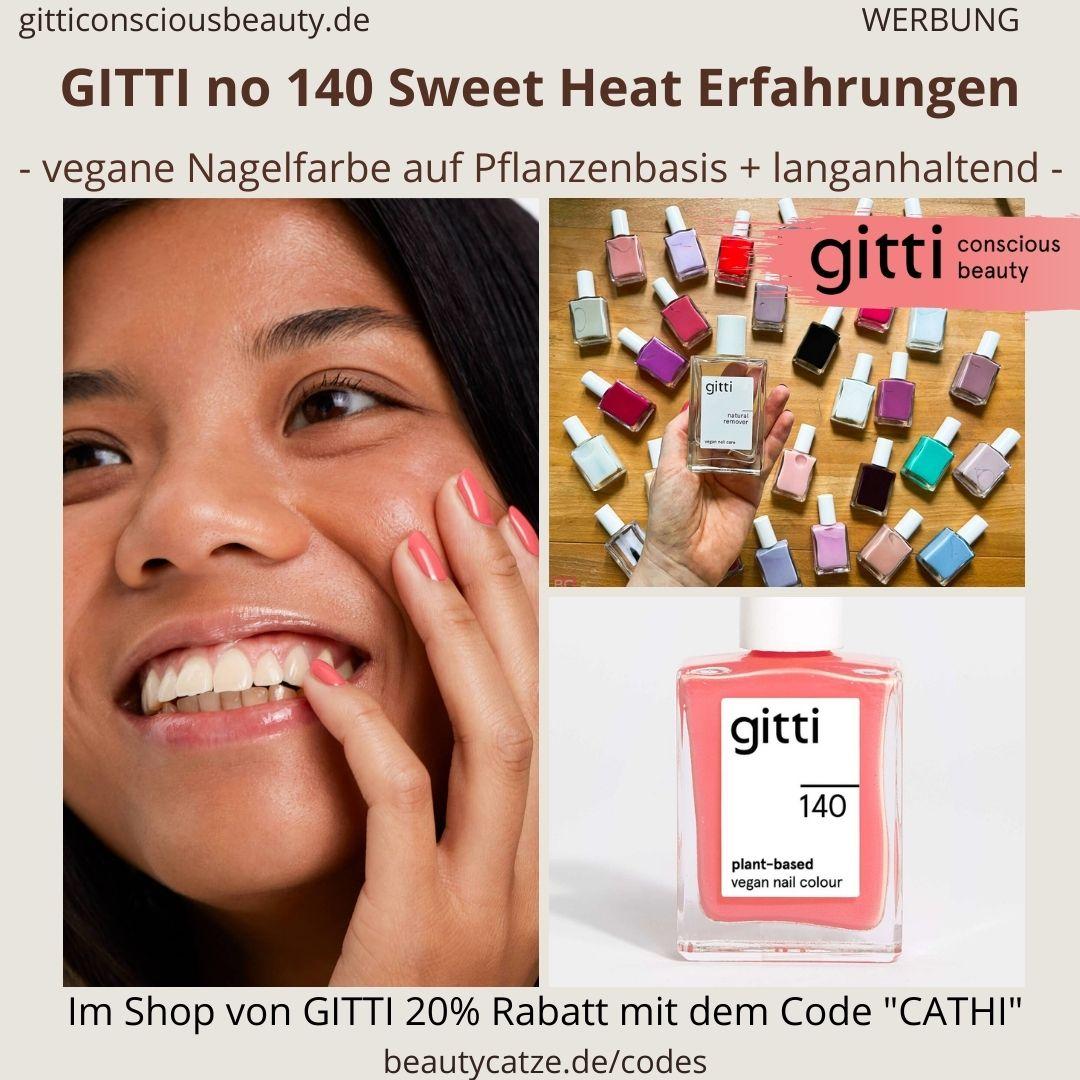 SWEET HEAT GITTI Nagellack No 140 rosa ERFAHRUNG Nagelfarbe hellrosa plant-based