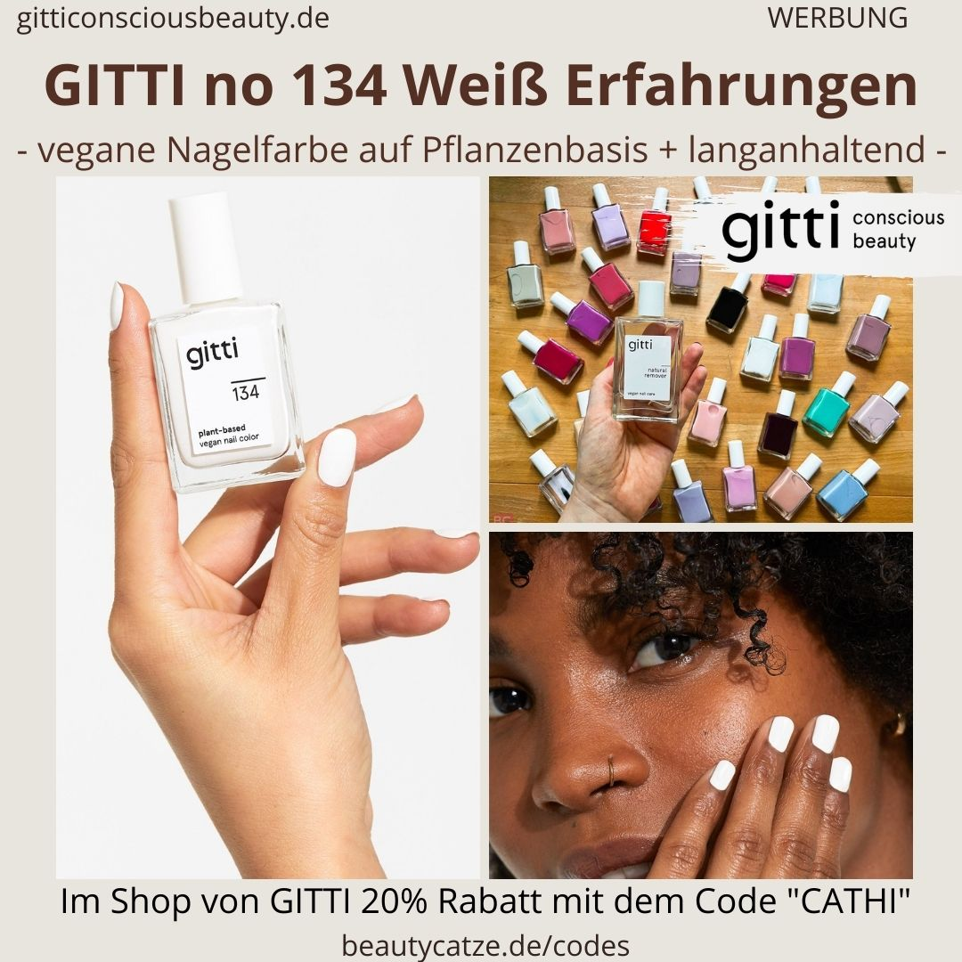 WEISS GITTI Nagellack No 134 ERFAHRUNG weiße Nagelfarbe plant-based