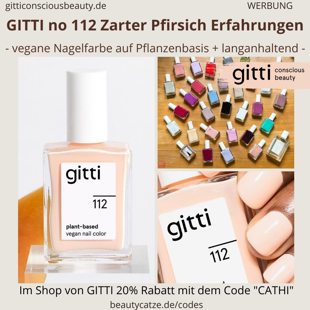 ZARTER PFIRSICH GITTI Nagellack No 112 hell rosa ERFAHRUNG Nagelfarbe plant-based