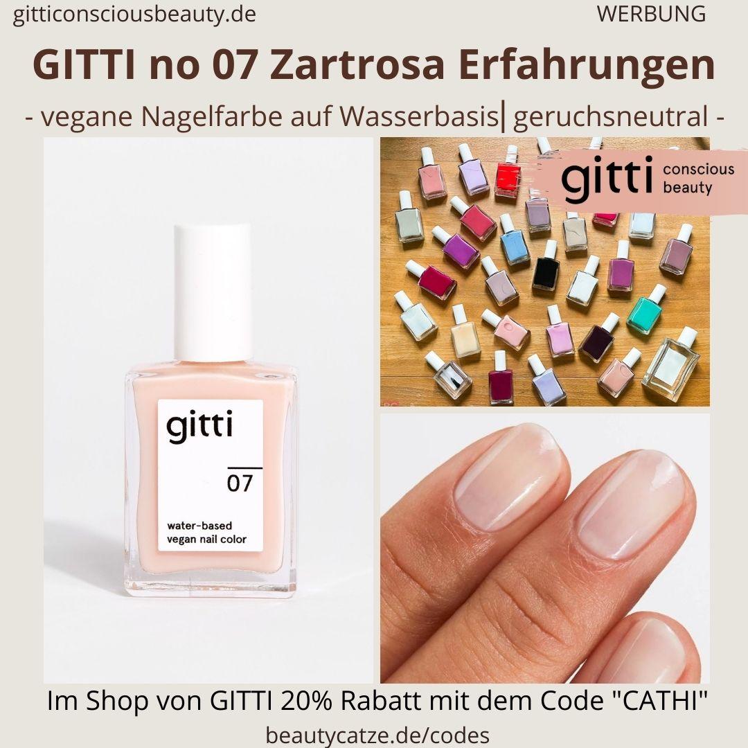 ZARTROSA GITTI Nagellack No 07 rosa hell ERFAHRUNG Nagelfarbe water-based